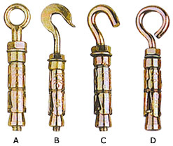 Sield Anchors with Eye Bolt and Hook Bolt